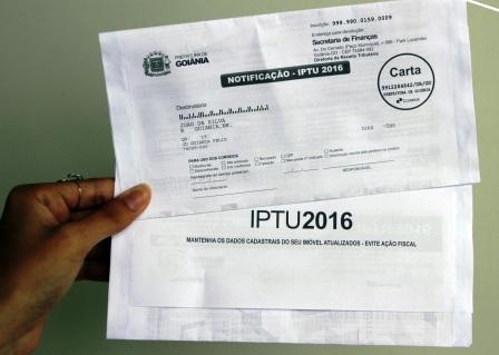 Finanças Carnê De Iptu é Substituído Por Boleto Goiânia