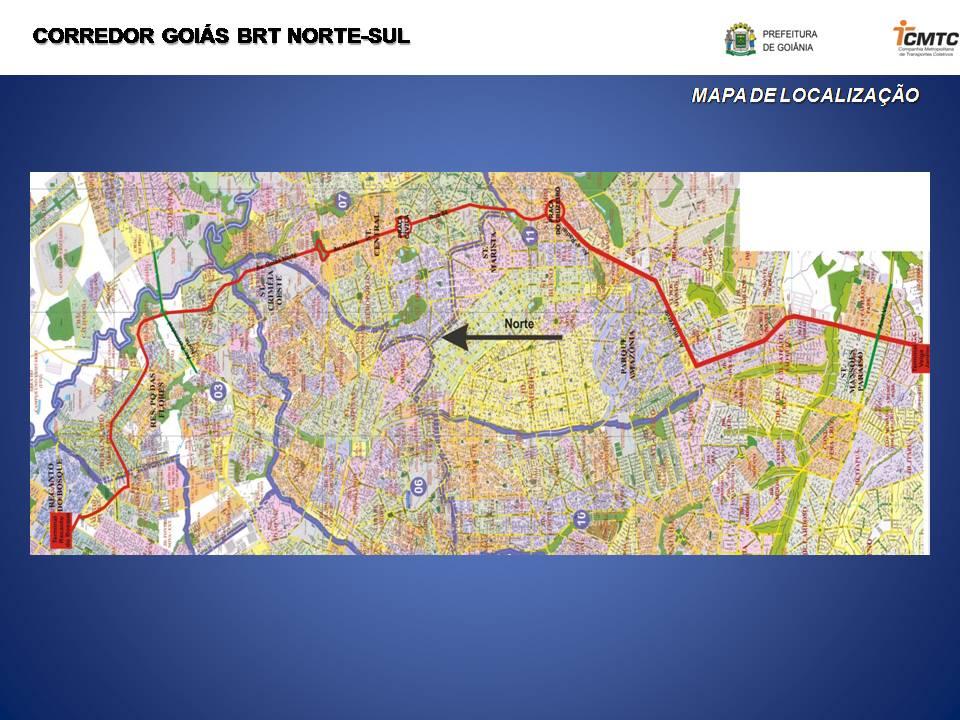 Confira o percurso do BRT Norte-Sul, que atenderá 148 bairros de Goiânia,  beneficiando 120 mil pessoas por dia  4a0ce1688e